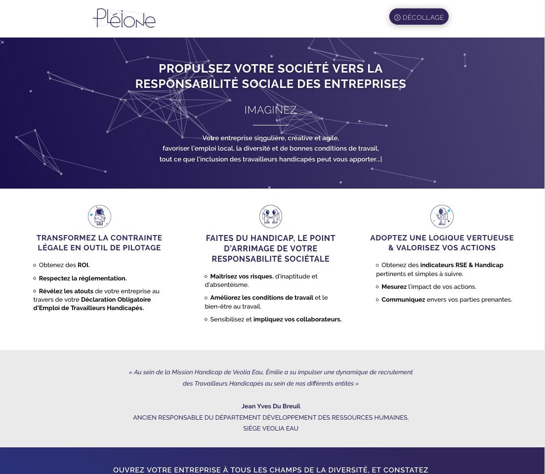 Site Web Pleione 1
